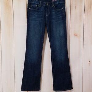 Vigoss Dark Wash Stretchy Flap Pocket Bootcut Jean